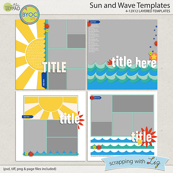 http://the-lilypad.com/store/Sun-and-Wave-Digital-Scrapbook-Templates.html