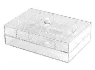 Caja joyero doble de metacrilato con tapa