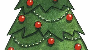 Arboles infantiles de navidad para imprimir