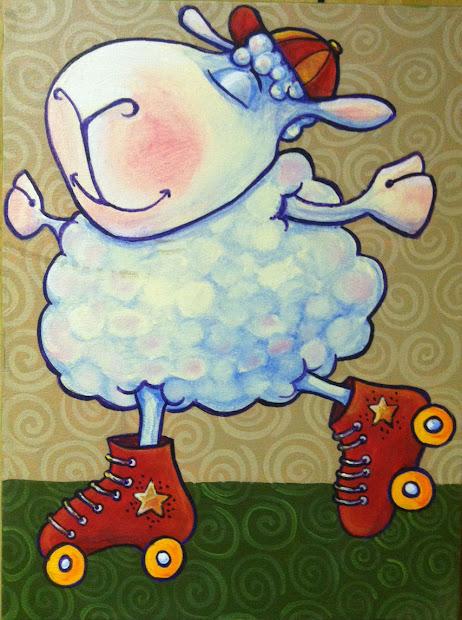 Nursery Sheep Paintings
