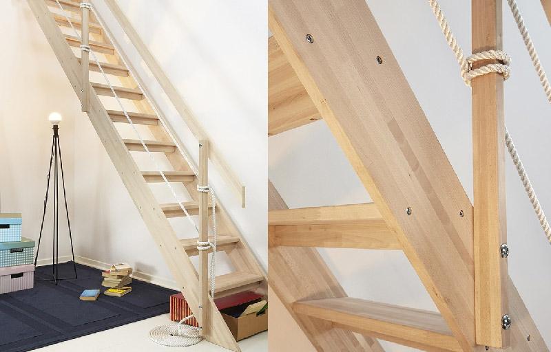 scala per interni realizzata in legno, economica e personalizzabile