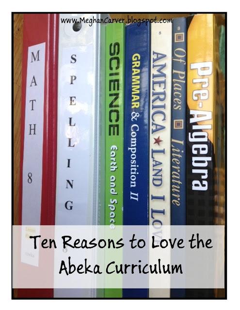 Meghan Carver Ten Reasons I Love The Abeka Curriculum