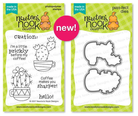 Newton's Nook Designs Cuppa Cactus Stamp and Die Set