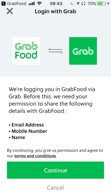 Link Grab to GrabFood