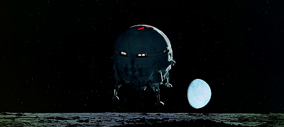 Landing on the Moon, probe the discovery of Monolith on Moon's Clavius Base, 2001: A space Odyssey (1968), directed by Stanley Kubrick