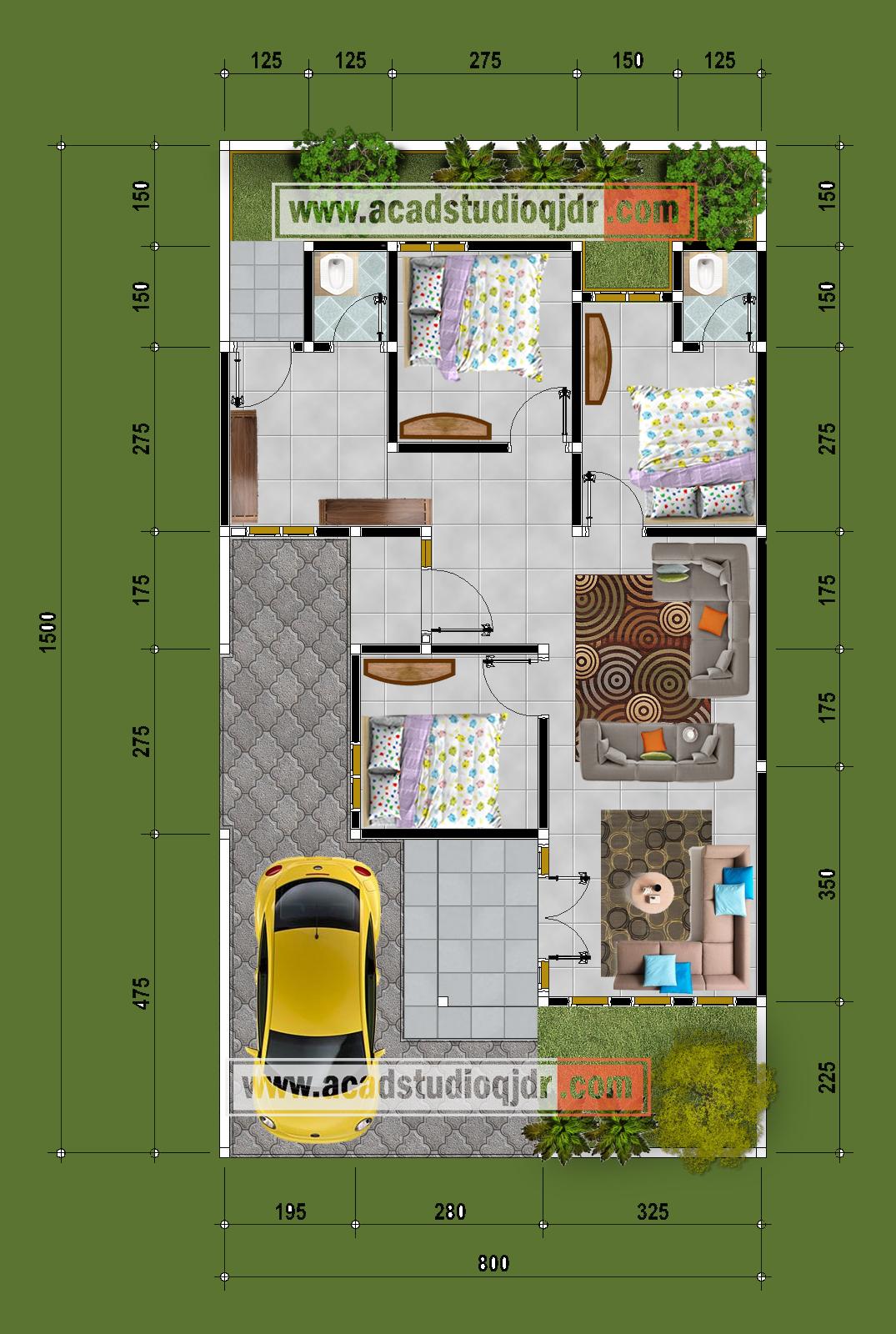 Bentuk Desain Rumah Hook Tipe 70 Jasa Desain Rumah