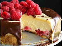 DOUBLE CHOCOLATE GANACHE AND RASPBERRY CHEESECAKE