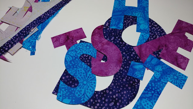 Using letters for applique