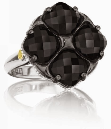 four clover black onyx ring