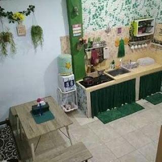dapur minimalis nuansa hijau