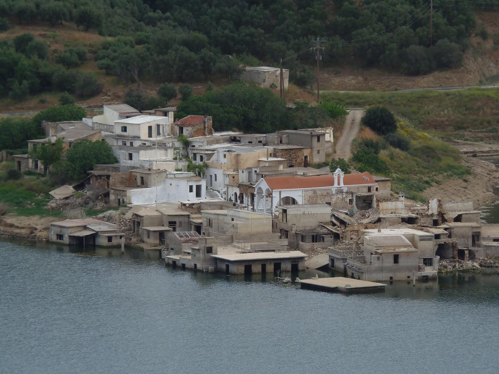 underwater village, village, sfendyli, crete, jeep safari, travel, greece