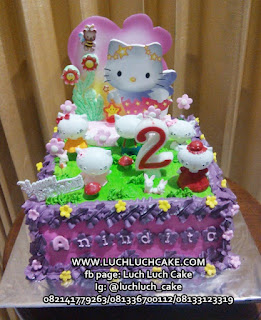 Hello Kitty Birthday Cake Buttercream