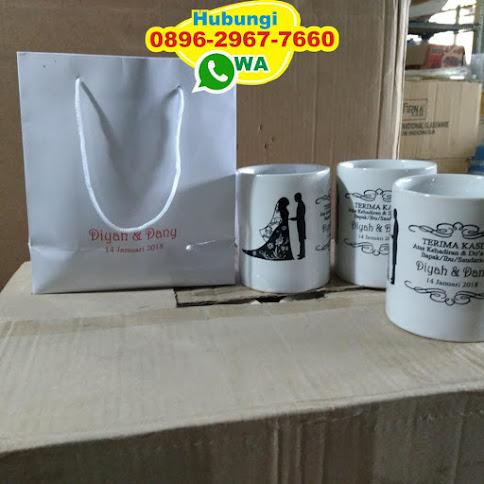 toko souvenir pernikahan mug kemasan tas harga murah 51444