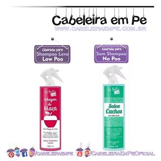 Sprays Salva Cachos e Selagem de Maçã - La Bella Liss (Selagem Low Poo e Salva Cachos No Poo)