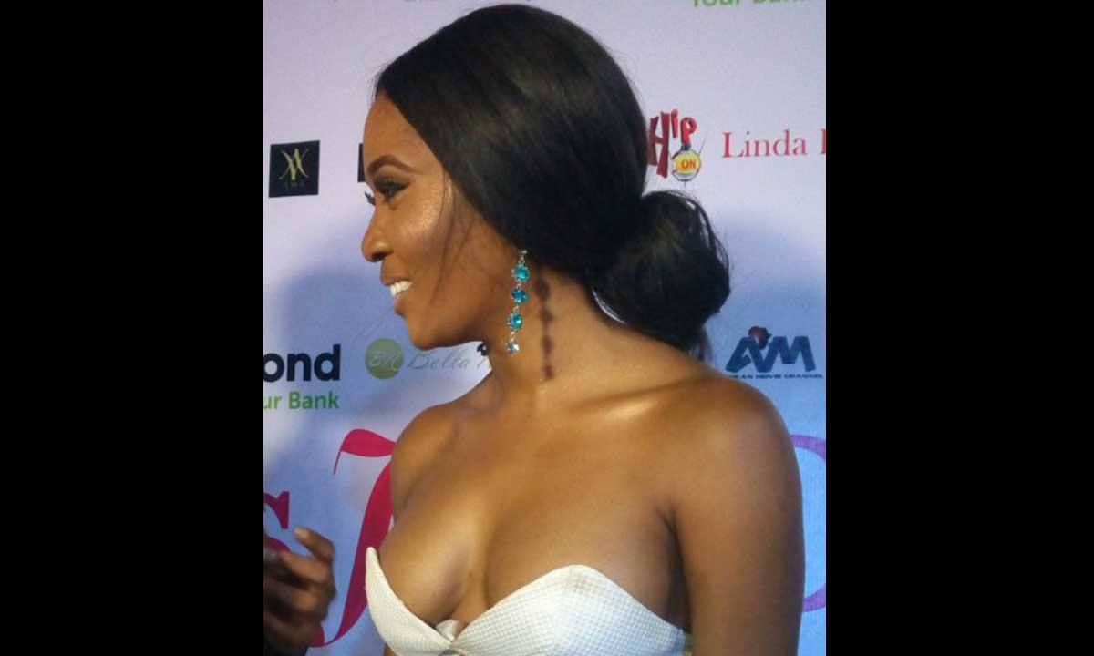 The premiere of Bovi's Official Movie- It's Her Day, was like a grand Hollywood reception. see how these stars Toni Tones emerged like Cinderella the princess of Hollywood.  The premiere which took place at the Genesis Deluxe Cinemas, Lekki, had an awesome attention from the media and Lagosian from far and near and within the Vicinity.  The cast and crew of the movie gave us Hollywood in Nigeria as the premiere was one of a kind from reception to the cutting of the cake, red carpet and the newly wedded arrival of the couple in the limo. If I have never attended a wedding before then I sure did enjoy a reception with style.  Perfection exemplified, I think it  is safe to say that this movie- It's Her Day, reflects the persona of the producer and writer Bovi UGBOMA.  With a lot of Nollywood celebrities and entertainers turn up at the event, the testimonies speak for themselves.  Well, as fashion enthusiasts, we also took time out to check out what celebrities wore to the event.