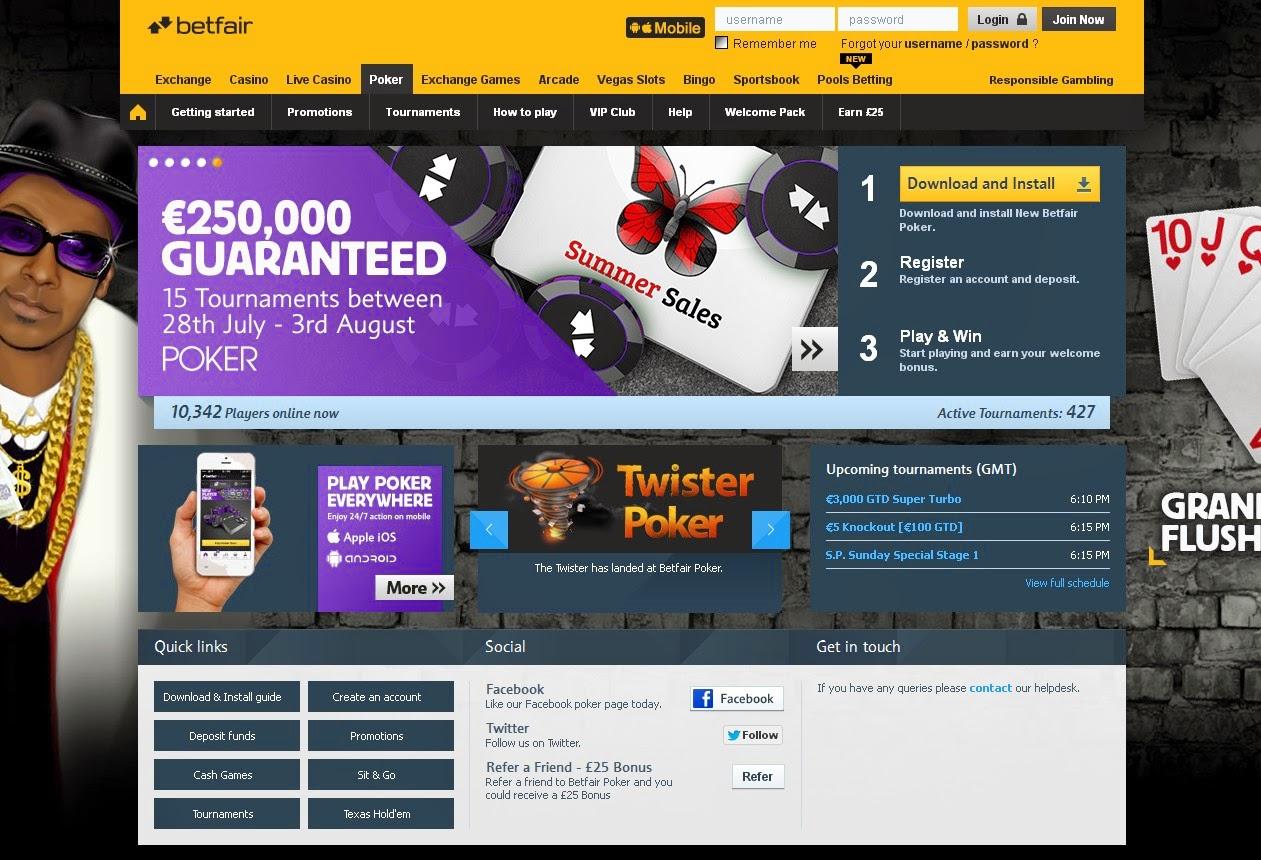 Betfair Poker Screen