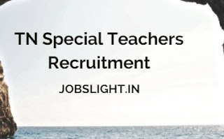 TN Special Teachers Recruitment