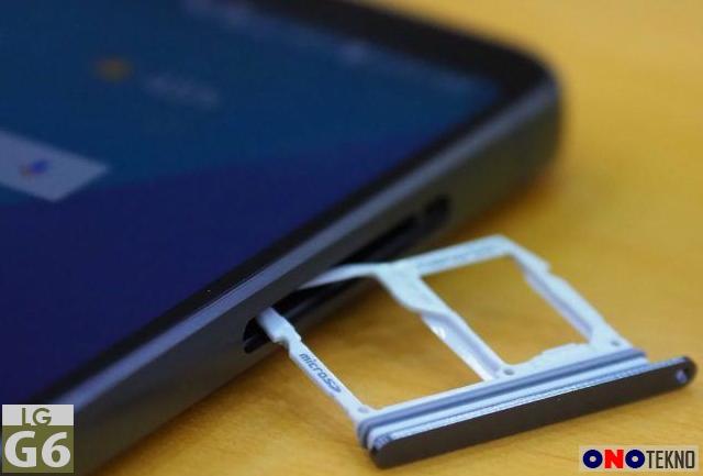 LG G6 dengan single SIM dan Slot MicroSD