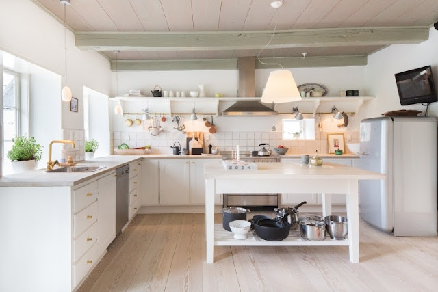 Magnificent custom European farmhouse kitchen design and decor on Hello Lovely Studio