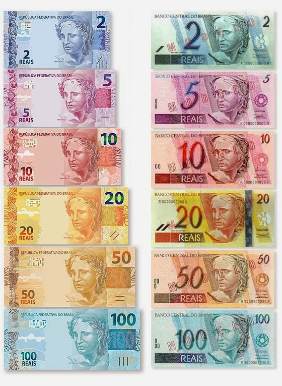 Brazilian Currency Is Called The Real Pl Reais Curly Trading At 1 Usd 2 Brl R And Comes In These Denominations New