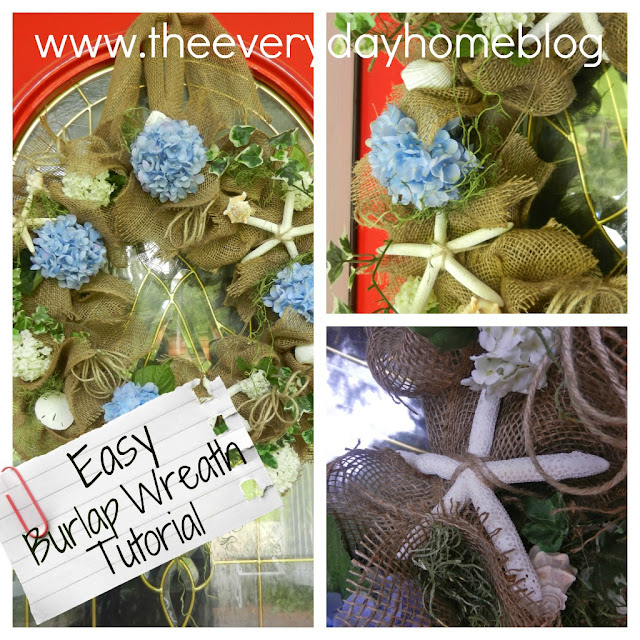 Burlap Wreath Instructions by The Everyday Home #burlap #wreaths #crafts #DIY