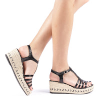 Sandale dama Doroteea negre