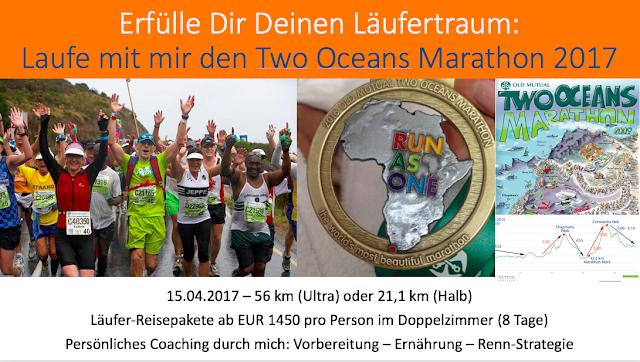 Two Oceans Marathon 2017 Reise Laufen