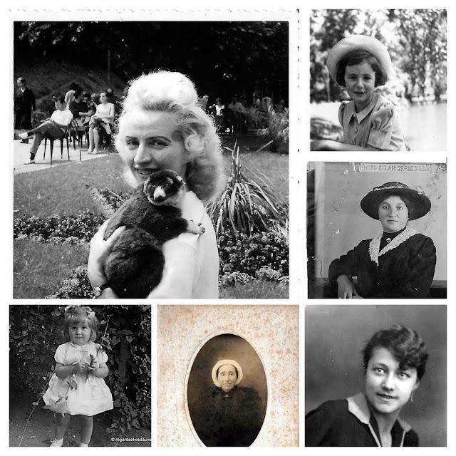 Album photos anciennes noir et blanc : Portraits