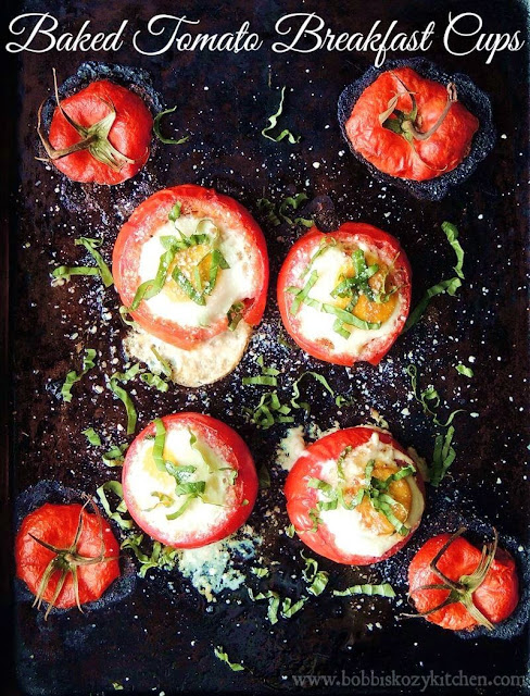 Baked Tomato Breakfast Cups from www.bobbiskozykitchen.com