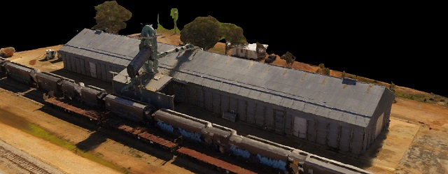 Drone Structure Scan Industrial Infrastructure Grain Receival - Image 1