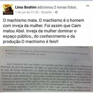 MACHISMO FEMINISTA OU FEMINISMO MACHISTA