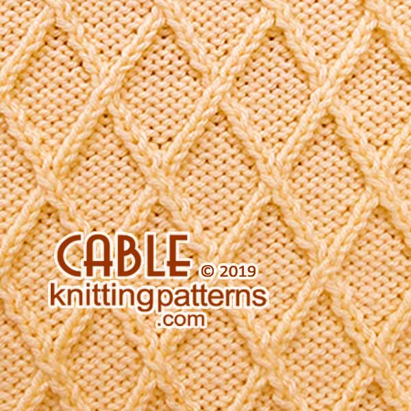 Knitted Cables. Free pattern #knitcable