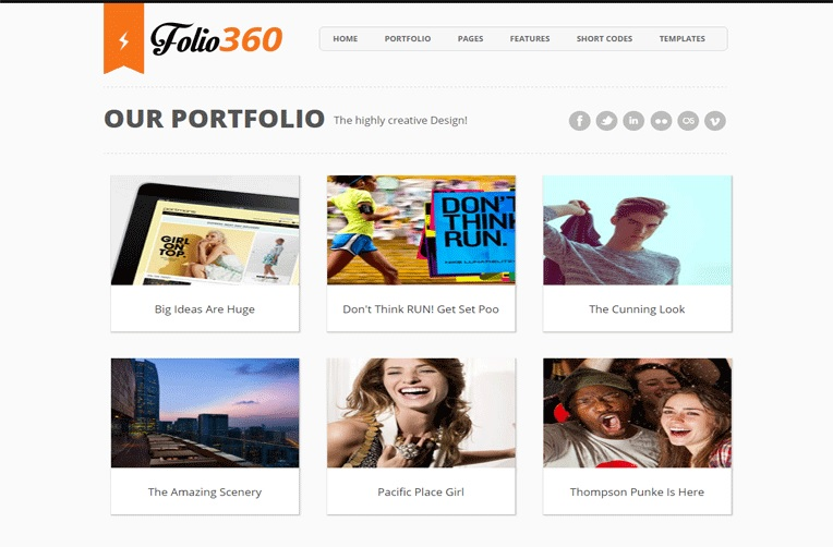 Folio360 Single Page Portfolio Blogger Template Free Download