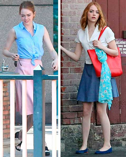 La La Land, figurino do filme Emma Stone