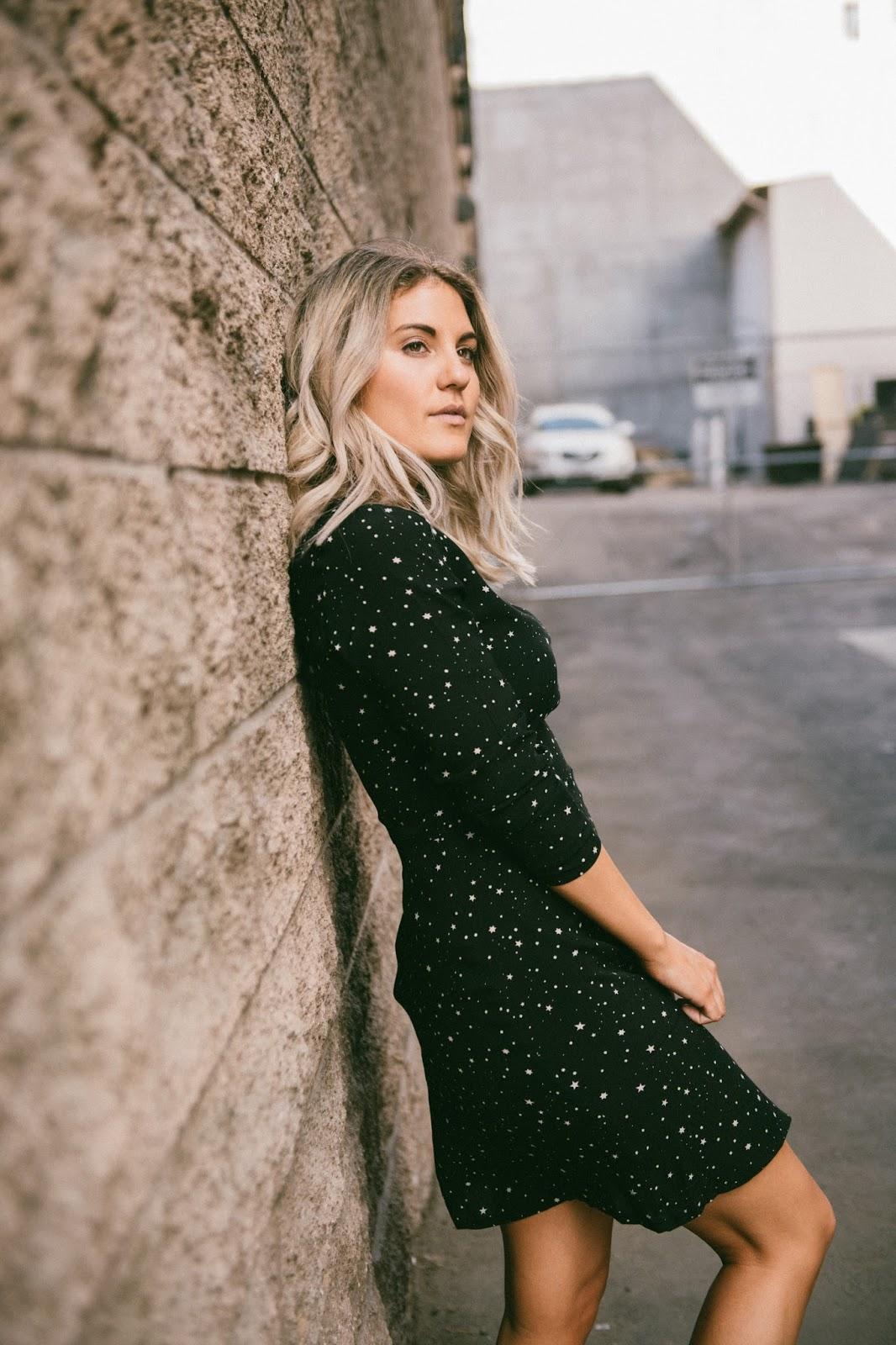 Star Print Dress - www.instagram.com/taylorwinkelmeyer/