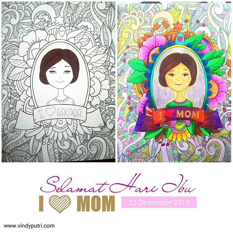 Coloring Book For Adults Beberapa Hasil Mewarnai