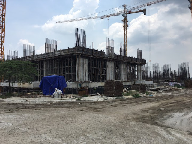 Tiến độ chung cư B1.3 Thanh Hà Cienco 5 tòa HH03B cập nhật ngày 27/7/2017