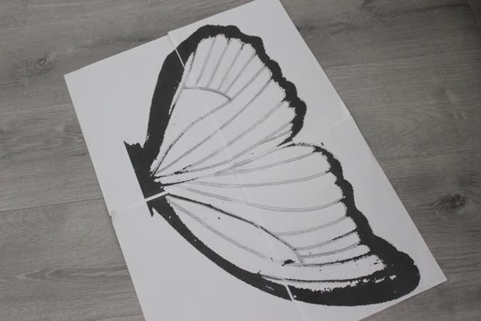 plantilla para hacer disfraz casero de mariposa