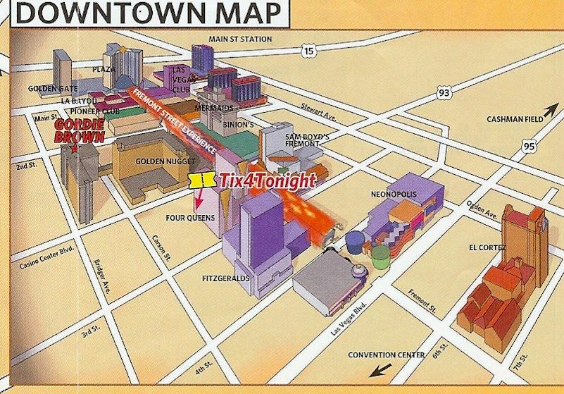 Fremont Street Las Vegas Map | compressportnederland