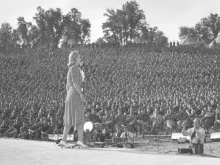Carole Landis Singing For Soldiers