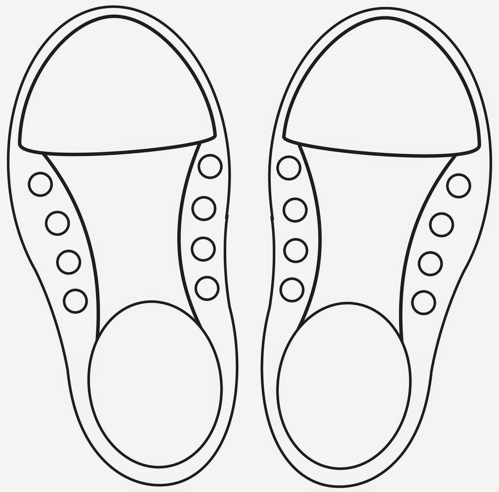 footprint cut out template - learning to lace and tie your shoe craft repeat crafter me