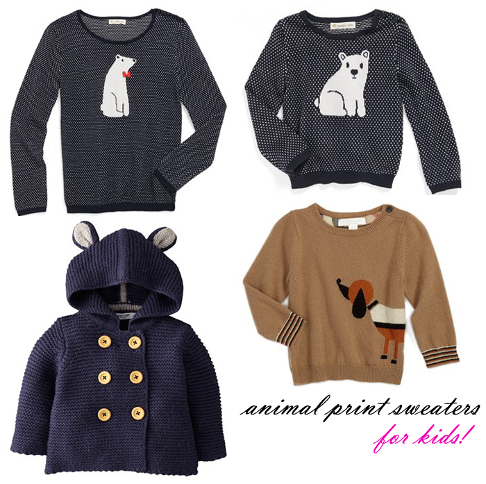 animal sweaters for kids babies