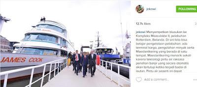 Foto Jokowi Ketika Blusukan Kompleks Maasvlakte II, pelabuhan Rotterdam, Belanda 2