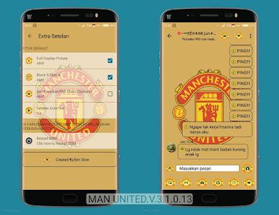 BBM MOD Manchester United v3.1.0.13 APK (BBM MU New Style) Clone & UnClone