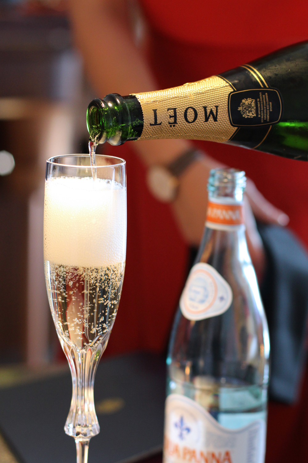 Moet Champagne at Ella Canta restaurant, London - UK lifestyle blog