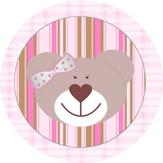 Bear Girl Toppers or Free Printable Candy Bar Labels.