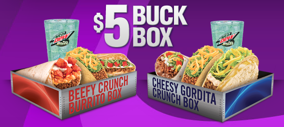 Taco Bell Launches The Five Buck Buck Box Seriously Focus Stand Out Grow Chicago Brand Strategy