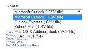LinkedIn Export File Types