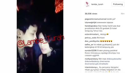 Video Ciuman dengan Wanita Beredar di Medsos, Hesty Klepek Klepek Dituding Penyuka Sesama Jenis
