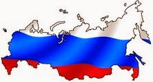 Russia flag-map
